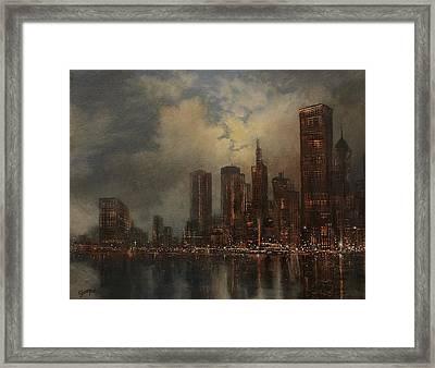 Chicago Skyline Framed Print by Tom Shropshire