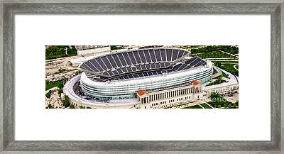 Chicago Soldier Field Aerial Photo Framed Print