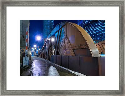 Chicago Steel Bridge Framed Print by Steve Gadomski
