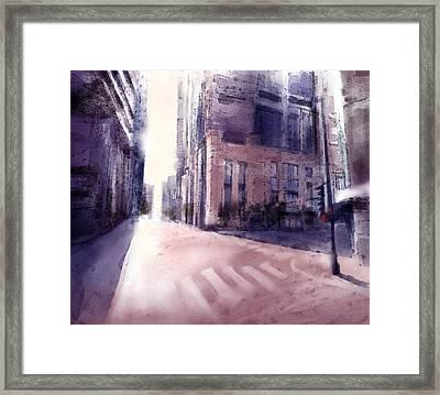 Chicago Street Framed Print