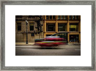 Chicago Street Framed Print by Mike Burgquist