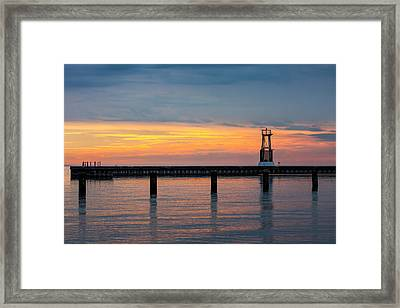 Framed Print featuring the photograph Chicago Sunrise At North Ave. Beach by Adam Romanowicz