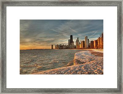 Chicago Sunrise Framed Print by Steve Gadomski