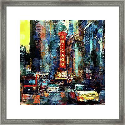 Chicago Sunset Framed Print by Yury Malkov