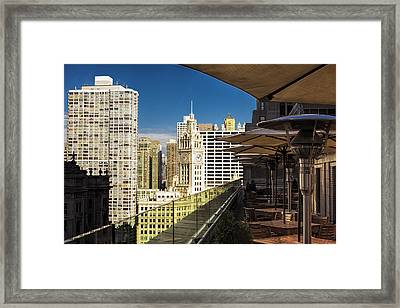 Chicago Terrace View Framed Print