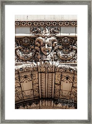Chicago Theater Jester Framed Print
