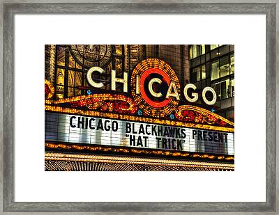 Chicago Theater Marquee Framed Print by Daniel Hagerman