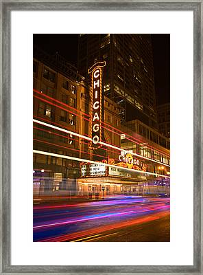 Chicago Theater Marquee Framed Print