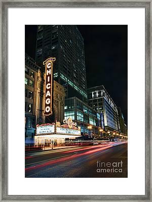Chicago Theatre Framed Print by Eddie Yerkish