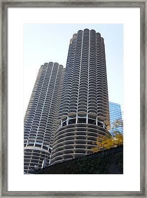 Chicago Twin Corn Cob Building  Framed Print by Art Spectrum