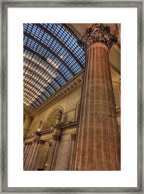 Chicago Union Station Column Framed Print by Steve Gadomski