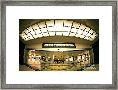 Chicago Union Station Interior Fisheye Framed Print by John Rizzuto