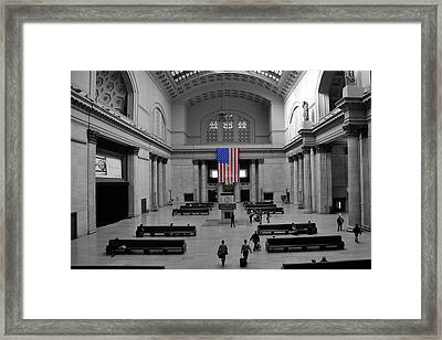 Chicago Union Station Framed Print by Sheryl Thomas