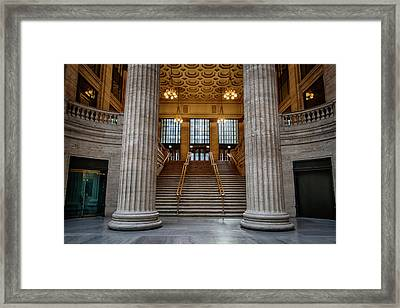 Chicago Union Station Stairs Framed Print