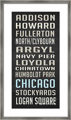 Chicago Vintage Subway Signs Framed Print