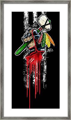 Warrior Glove Origins Framed Print by Michael Figueroa