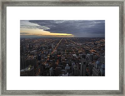 Framed Print featuring the photograph Chicago Westward by Steven Sparks