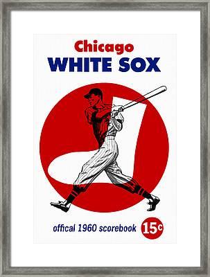 Chicago White Sox 1960 Scorebook Framed Print