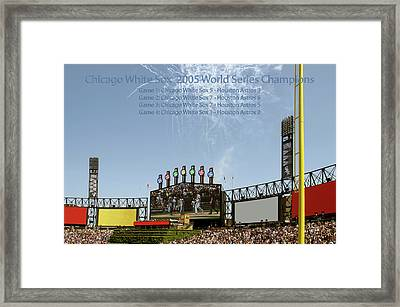 Chicago White Sox 2005 World Series Champions 03 Framed Print