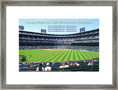 Chicago White Sox 2005 World Series Champions 04 Framed Print