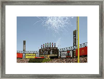Chicago White Sox Homerun Fireworks Scoreboard Framed Print