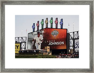 Chicago White Sox Lance Johnson Scoreboard Framed Print