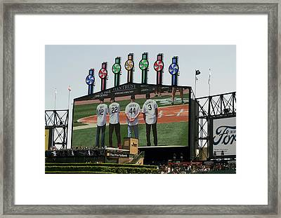 Chicago White Sox Scoreboard Thank You 12 22 44 3 Framed Print