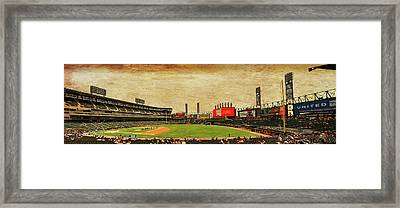 Chicago White Sox Seating Panorama 03 Textured Framed Print