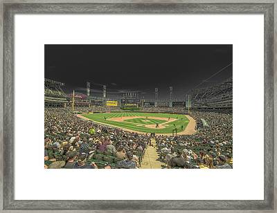 Chicago White Sox Us Cellular Field Creative 2 Framed Print by David Haskett