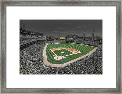 Chicago White Sox Us Cellular Field Creative Framed Print by David Haskett