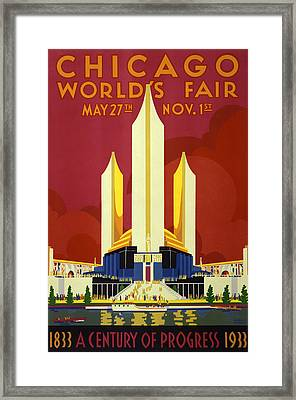 Chicago World's Fair - 1933 Framed Print by War Is Hell Store