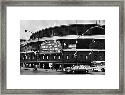 Chicago: Wrigley Field Framed Print