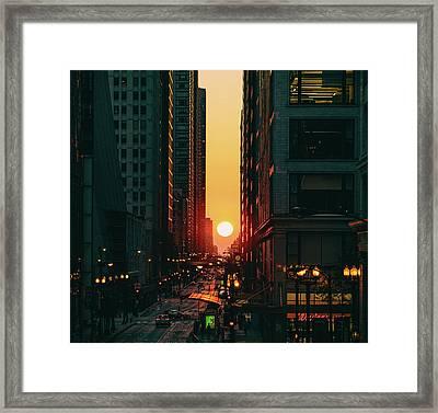 Chicagohenge Framed Print