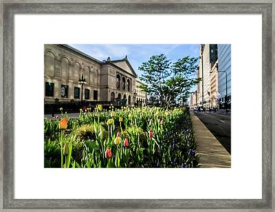 Chicago's Art Institute One Early Spring Morning Framed Print by Sven Brogren