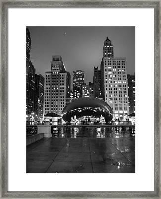 Chicago's Bean Framed Print