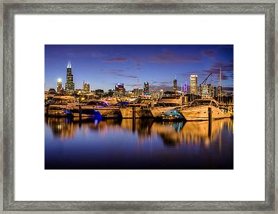 Chicago's Burnham Harbor Framed Print