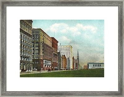 Chicago's Michigan Avenue Looking North From Congress Framed Print by Kurt Olson