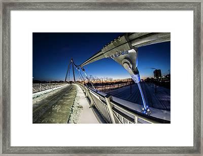 Chicago's New 35th Street Ped Bridge At Dawn Framed Print by Sven Brogren
