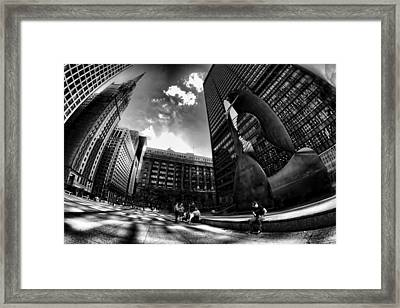 Chicago's Picasso With A Fisheye View Framed Print