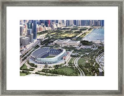 Chicago's Soldier Field Framed Print by Adam Romanowicz