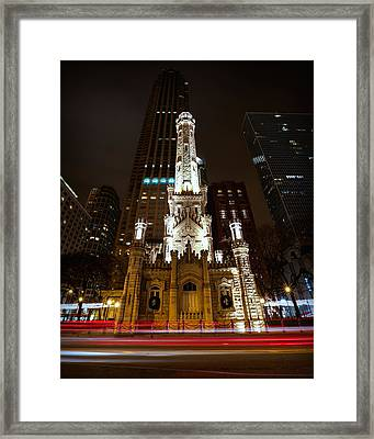 Chicago's Water Tower Framed Print