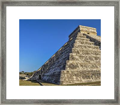 Chichen Itza At Spring Equinox Framed Print by Pelo Blanco Photo