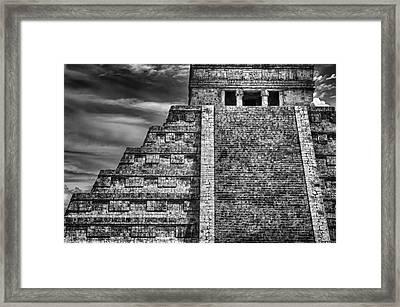 Chichen Itza-mayan Temple Framed Print by John Hamlon