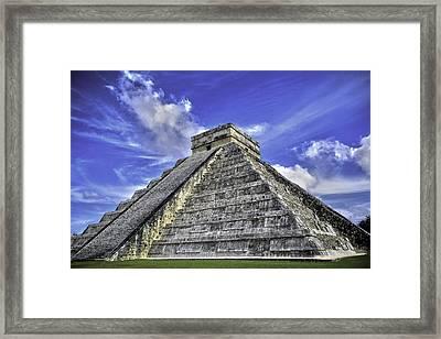 Chichen Itza, El Castillo Pyramid Framed Print by Jason Moynihan