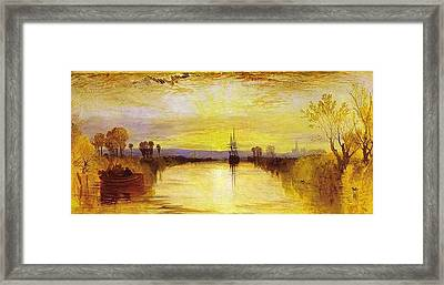 Chichester Canal Framed Print