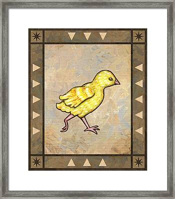Chick Four Framed Print by Linda Mears