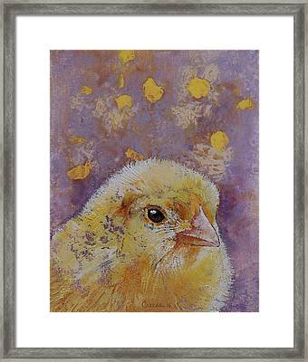 Chick Framed Print by Michael Creese