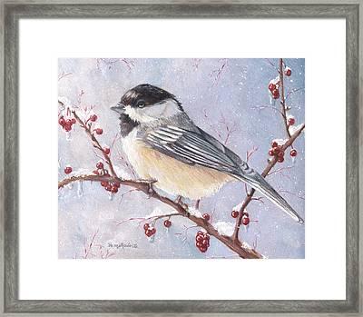 Chickadee Dee Dee Framed Print by Shana Rowe Jackson