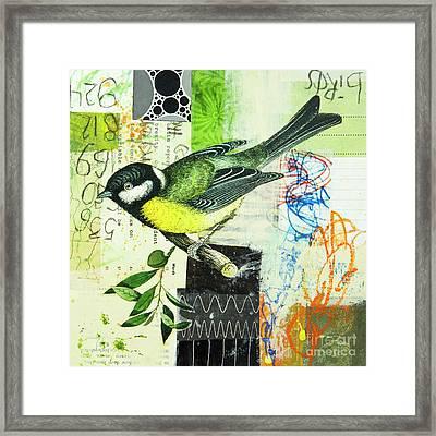 Chickadee Framed Print by Elena Nosyreva