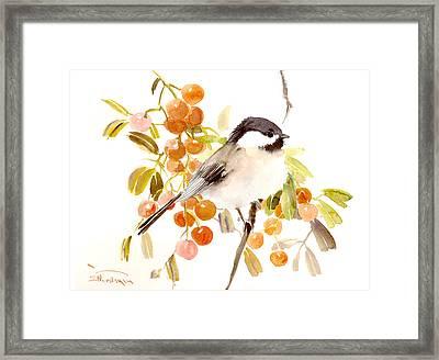 Chickadee Framed Print